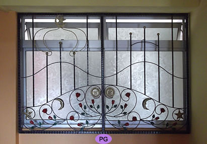Wrought Iron Window Grilles